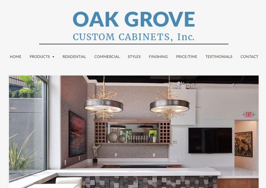 Web Design Case Study - Oak Grove Cabinets